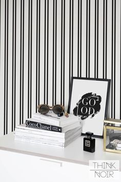 Minimalistic Wallpaper Regular / Self Adhesive Removable Wallpaper / Lines Wall Mural / Black and White Pattern Wall Decor by ThinkNoirWallpaper on Etsy https://www.etsy.com/listing/387567626/minimalistic-wallpaper-regular-self