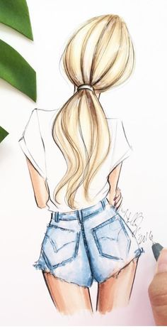 ▷ 1001 + images for girl drawing - ideas for developing your creativity People Drawing people drawings Pencil Art Drawings, Art Drawings Sketches, Hipster Drawings, Girl Pencil Drawing, Cute Drawings Tumblr, Painting & Drawing, Drawing Hair, Jeans Drawing, Manga Drawing