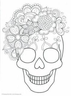 Dibujos Para Colorear El Dia De Los Muertos 5