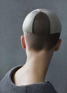 Geometric undercut hair