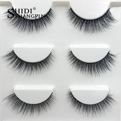 f367e24ea71 new 3 pairs natural false eyelashes 3D mink lashes makeup soft thick long fake  eyelash extension mink eyelashes beauty tools #X9-in Makeup Scissors from  ...