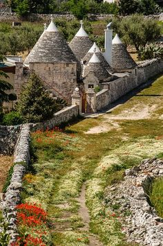 Alberobello, Puglia, Italy.  Land of the trullo.