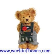 Hermann Original L/E Mohair Teddy Bear with magnetic paws 'Bastl'