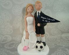 Soccer lovers wedding cake topper! - Fall Wedding | Ana & Charley ...