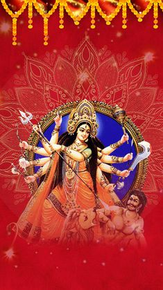 Happy Durgastami to You & to Your Family Shri Ganesh, Durga Maa, Durga Goddess, Krishna, Happy Navratri Images, Lord Vishnu, Indian Gods, Morning Images, Kolkata