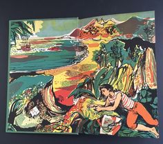 John Minton illustration for 'Treasure Island' by Robert Louis Stevenson, 1947 Art And Illustration, Book Illustrations, Science Fiction, John Minton, Mystery, Romantic Paintings, Seascape Art, Romance, Art For Art Sake