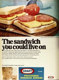 Kraft processed cheese ad
