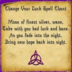 change your luck spell wiccan pagan Moon Spells, Magick Spells, Wicca Witchcraft, Wiccan Witch, White Witch Spells, Hoodoo Spells, Wiccan Art, Wiccan Symbols, Magic Symbols
