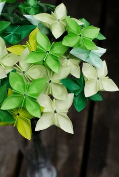 """Granny Greens - origami """"Butterfly Blooms"""" bouquet by MyBhoemianSummer"""