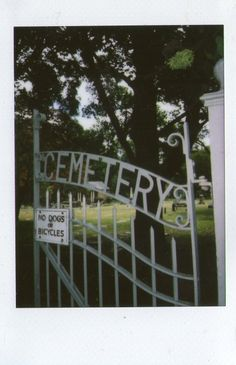 cemetery drive// no bicycles ah shame