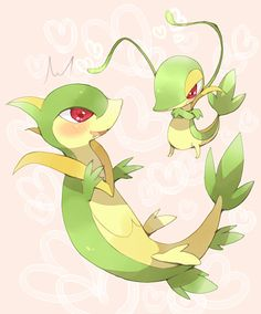 Snivy and Servine! :D <3 http://media.tumblr.com/tumblr_lr1e7aLfnk1qhs5v5.gif