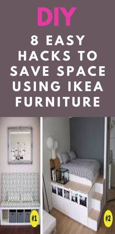 Diy Home Furniture, Ikea Furniture, Furniture Making, Ikea Shelf Brackets, Raised Platform Bed, Kallax Shelving Unit, Neon Room, Easy Hacks, 1000 Life Hacks