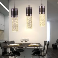 Aliexpress.com : Buy Bubble crystal lighting modern brief dining room pendant light bar lamps from Reliable chandelier crystal suppliers on Doris lighting Co.,Ltd.. $394.11