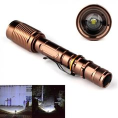 Practical LED Flashlights Portable Lamp Bronze Tactical 5-mode 4000LM 18650 Zoomable XML T6 LED Flashlight Torch. Yesterday's price: US $10.36 (8.56 EUR). Today's price: US $8.60 (7.12 EUR). Discount: 17%.