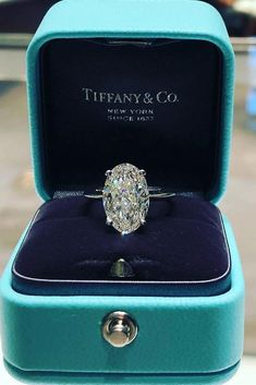 Tiffany & Co. of pure oval royalty with this colorless solitaire 👑💎… Tiffany & Co. of pure oval royalty with this colorless solitaire 👑💎👑💎👑 tag someone who needs this in their life. Tiffany Wedding Rings, Wedding Rings Vintage, Wedding Bands, Tiffany Rings, Big Diamond Wedding Rings, Wedding Rings Simple, Tiffany Jewelry, Dream Engagement Rings, Engagement Ring Settings