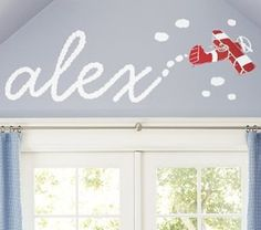 I have wanted to do this foreverrrr - think one of the girls will go for an airplane themed room??!!??