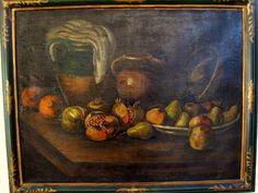 Ecole Italienne Du XVIII° Nature Morte Aux Fruits & Cruches