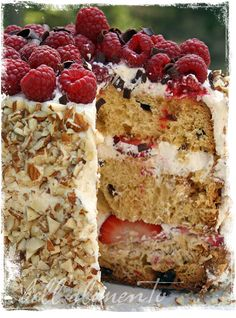 Jamie Oliver's Sponge Cake w/Summer Berries & Cream