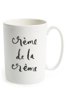 kate spade new york 'crème de la crème' porcelain mug available at #Nordstrom