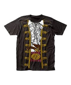 Look at this #zulilyfind! Black Pirate Prince Tee - Men's Regular #zulilyfinds