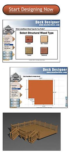 15 sizes available for this 320 sf deck free deck plan for Deck planner tool