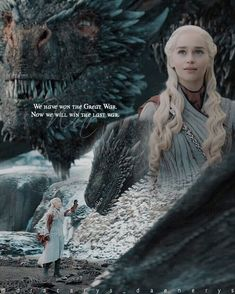 Image may contain: 2 people, text and outdoor Game Of Thrones Poster, Game Of Thrones Quotes, Game Of Thrones Art, Game Of Thrones Dragons, Got Dragons, Daenerys Targaryen Aesthetic, Daenerys Targaryen Art, The Mother Of Dragons, The North Remembers