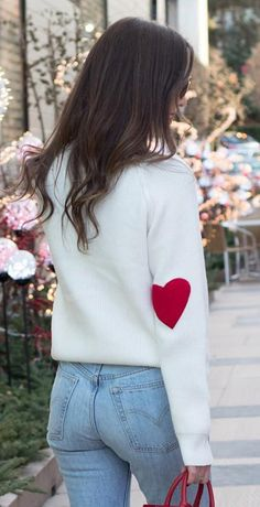 What can I say... I wear my heart on my sleeve. Heart and Soul Patched Knit Sweater featured by Elleoquent Style Blog