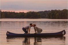 Cute canoe engagement photo idea!