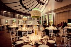Towering Centerpiece ~ Coordinated by Mint Julep Social Events.
