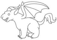 Too Cute Gargoyle | Urban Threads: Unique and Awesome Embroidery Designs