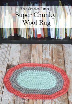 Crochet Super Chunky Wool Rug – 2019 - Yarn ideas Crochet Super Chunky Wool R. Crochet Super Chunky Wool Rug – 2019 – Yarn ideas Crochet Super Chunky Wool R… Crochet Supe Diy Crochet Rug, Crochet Rug Patterns, Manta Crochet, Chunky Crochet, Crochet Home, Free Crochet, Chunky Yarn, Crochet Ideas, Crochet Blankets