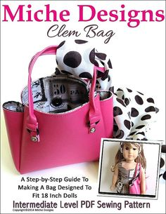 Pixie Faire Miche Designs Clem Bag Doll Clothes Pattern for 18 inch American Girl Dolls - PDF