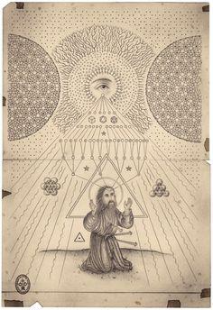 Daniel Martin Diaz, Eternal Cosmos, technique mixte sur papier