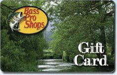 Know someone who loves to spend the day on the river with a fishing pole in hand? Get them a Bass Pro Shops gift card.