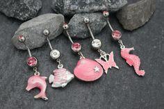 Sandie Pink Beach Navel Rings