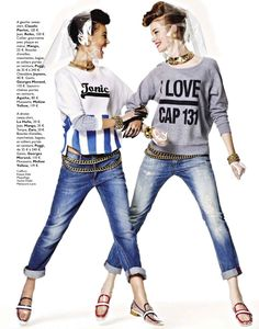 keilani asmus and gwen loos by james macari for grazia france