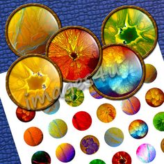 Small Images Cyber Orange  48 circle images 20mm by images4you, $3.95