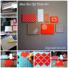 Shoe Box Lid Wall Art Collage