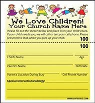 Check In Security Labels Children Churchchildren