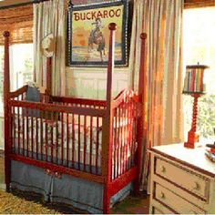 Cribs for Adorable Baby Boys' Rooms: Four-Poster Painted Cody Crib