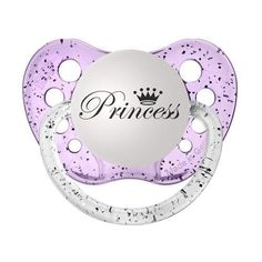 GIRLS 'PRINCESS' PURPLE GLITTER DUMMY SOOTHER