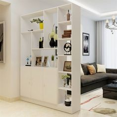 60 Favorite Studio Apartment Storage Decor Ideas And Remodel Cheap Room Dividers, Studio Apartment Storage, Apartment Storage, Living Room Divider, House Interior, Room Design, Living Room Decor, Living Room Partition Design, Home Living Room