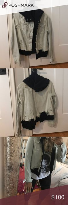 Selling this Free People Layered Look Denim Jacket on Poshmark! My username is: emilyraebeau. #shopmycloset #poshmark #fashion #shopping #style #forsale #Free People #Jackets & Blazers