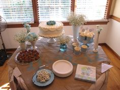 Baby Boy Shower Cake Table