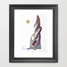 She got a big booty Framed Art Print Framed Art, Design, Illustration, Painting, Art, Retro Prints, Framed Art Prints, Prints, Amsterdam Art