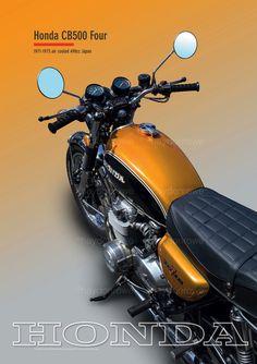 Honda CB500 Four @ theclassicpostercompany.com