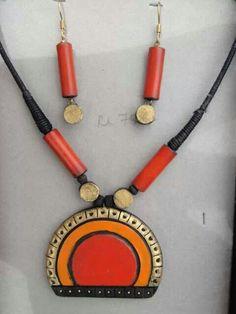 terracotta jewellery,elegant design, indian jewellery,Google serch result,terracotta earring,necklace,inspiring ideas, clay jewellery