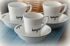 bonjour mug and bowl