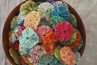 (Jenni) A great way to use scraps of fabric!
