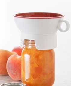Canning funnel - has an outer edge that keeps countertops and jar rims free of sticky trails